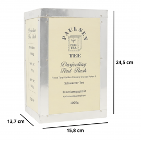 Darjeeling First Flush 1000g, in dekorativer Teekiste